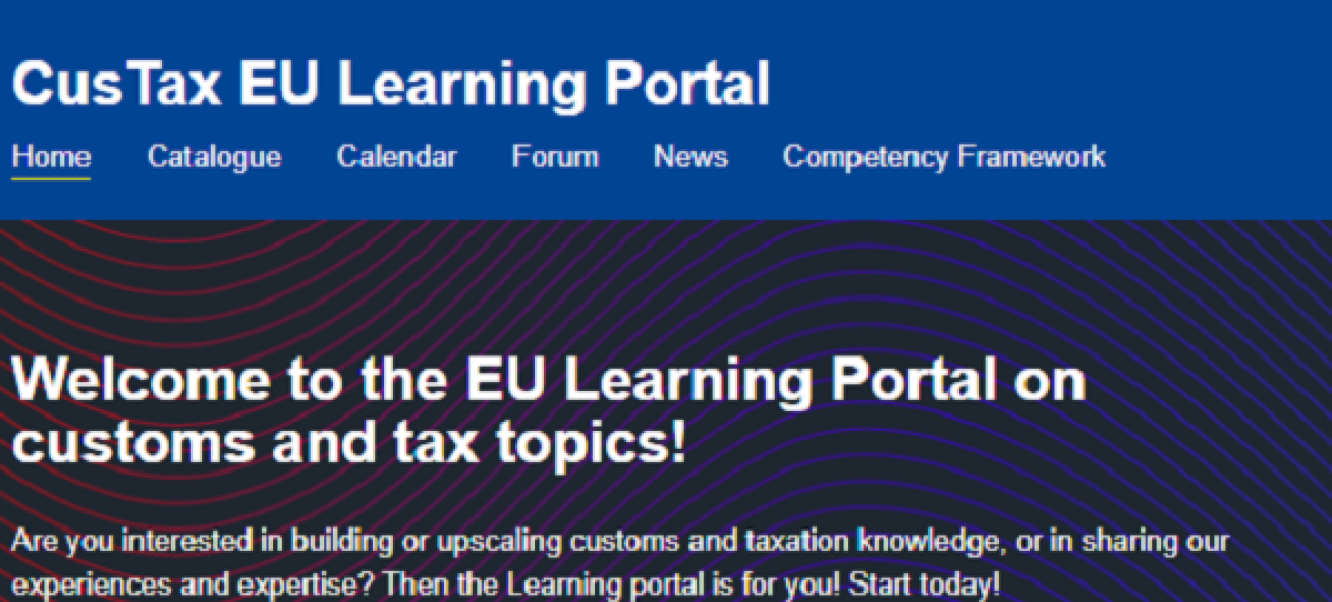 DG TAXUD Launches e-learning Platform for Tax and Customs Professionals